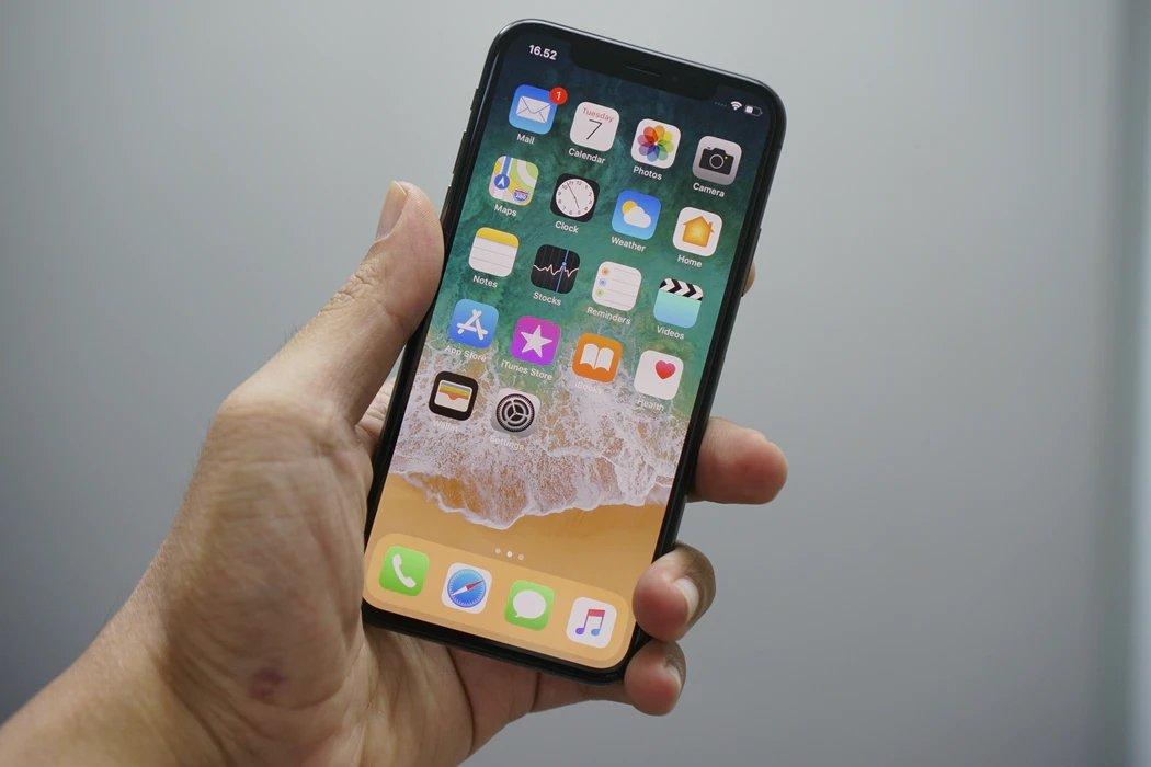 iPhone com ecrã ligado