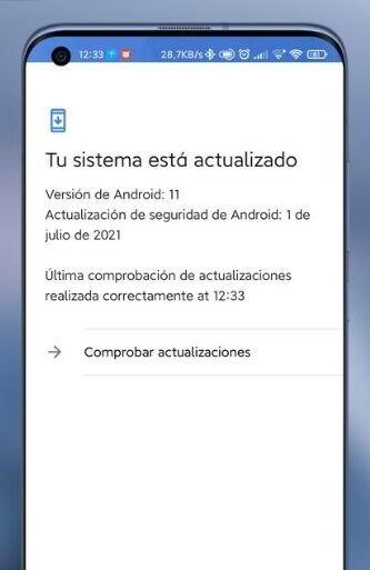 Atualização da MIUI pela app da google
