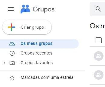 Novo logo da google groups