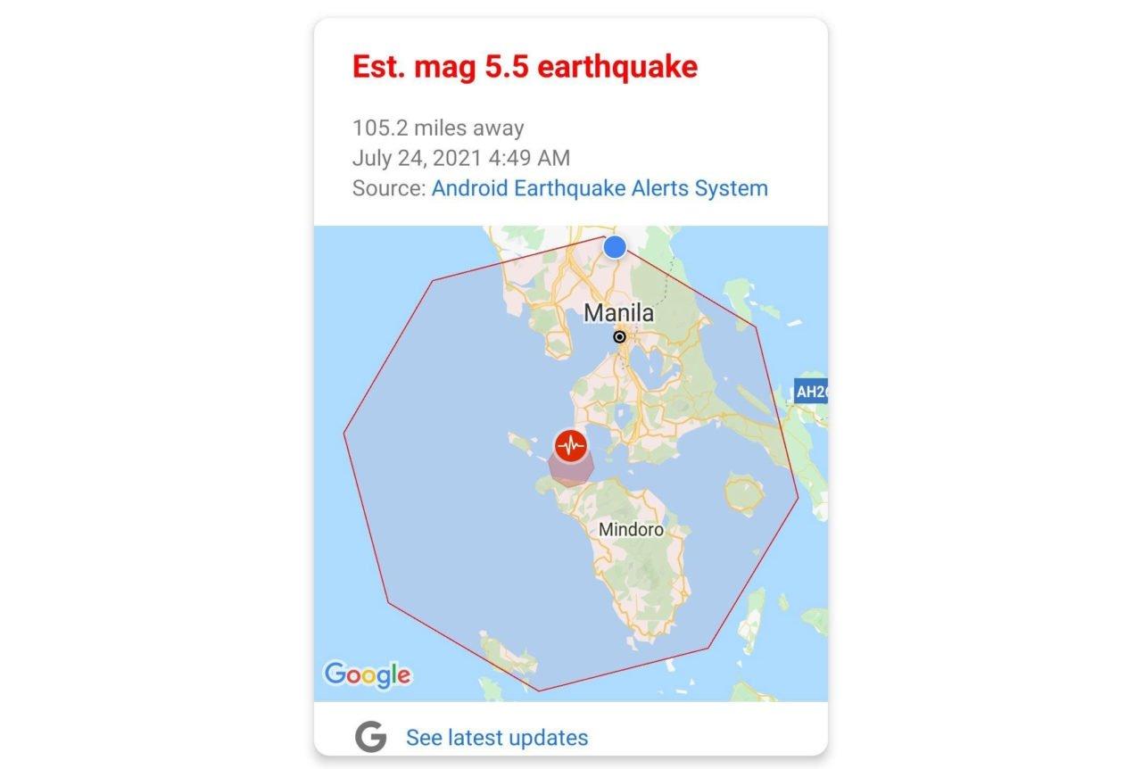 alerta de terramoto