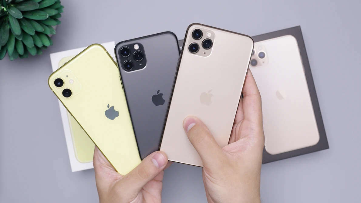 Apple iPhone na mão