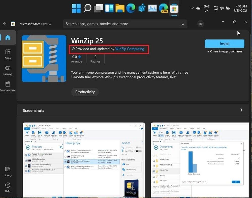 novos icones da Microsoft store