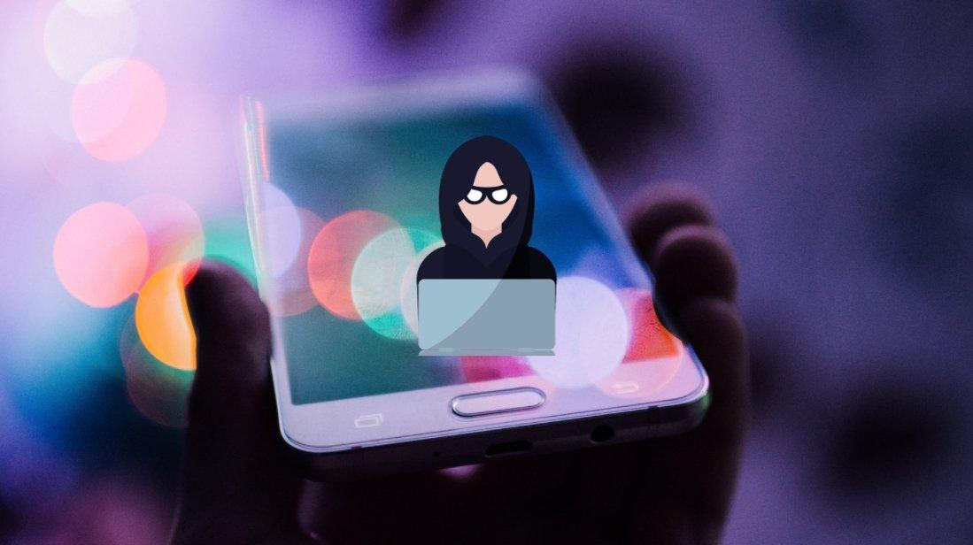 Hacker sobre smartphone