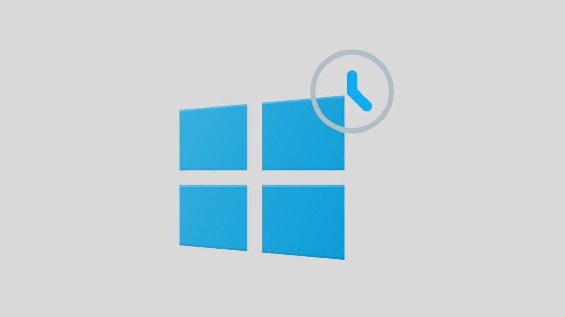 Windows 11 com relógio