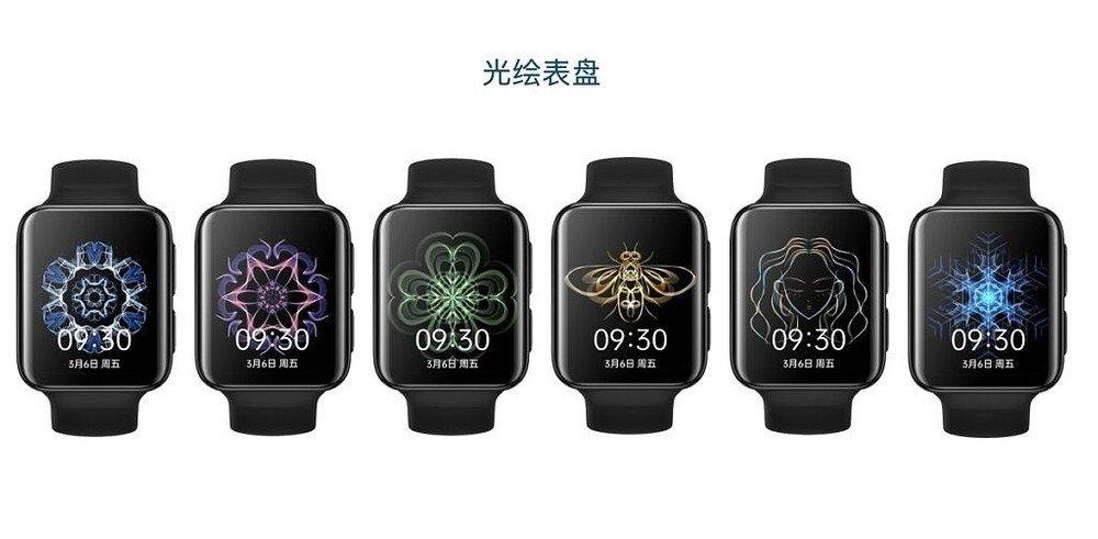 diferentes cores do oppo watch 2