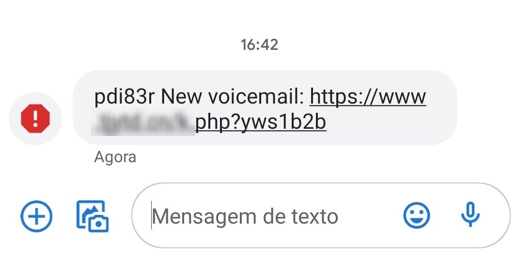 exemplo de mensagem phishing