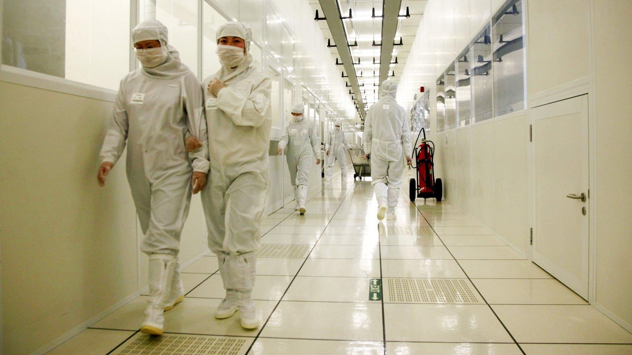 linha da fábrica da TSMC