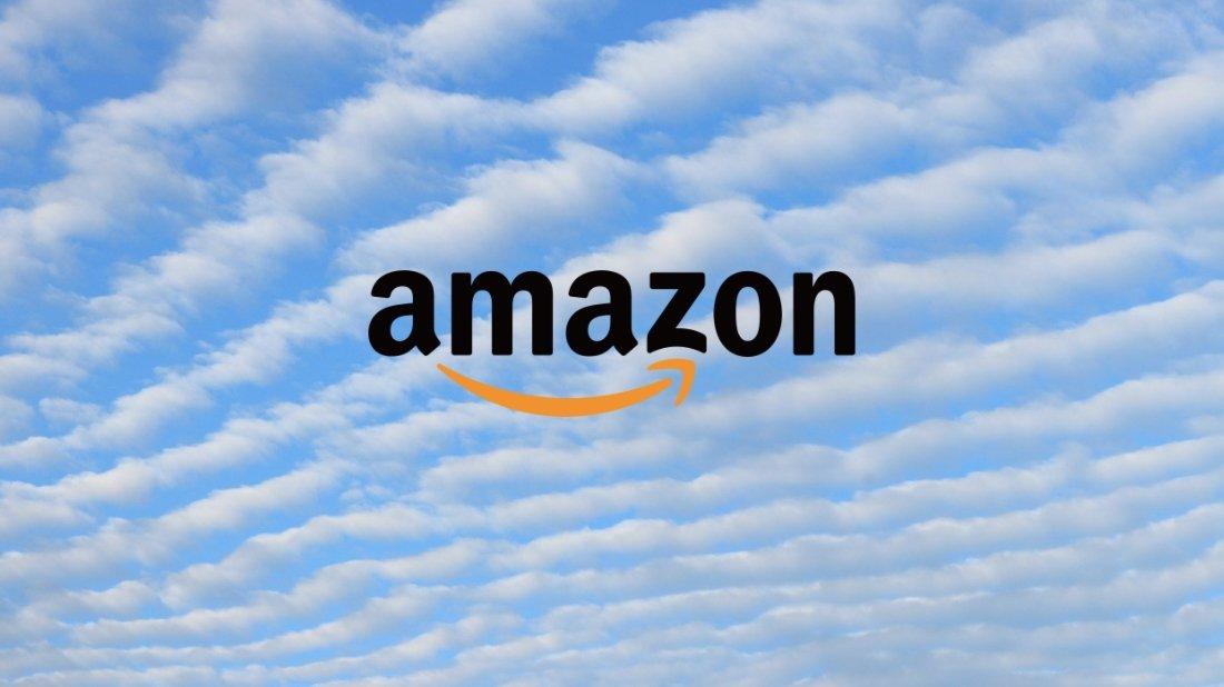 Amazon logo no céu