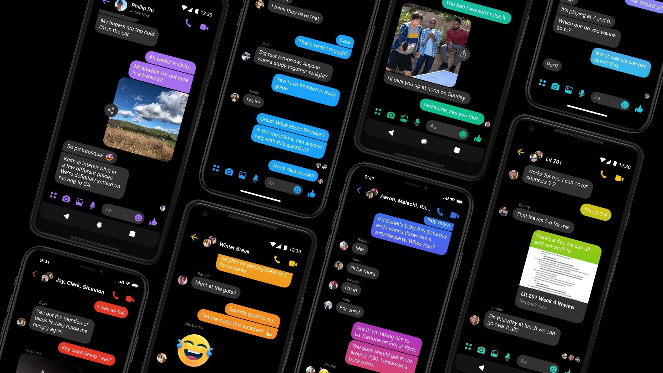 Modo Escuro no messenger