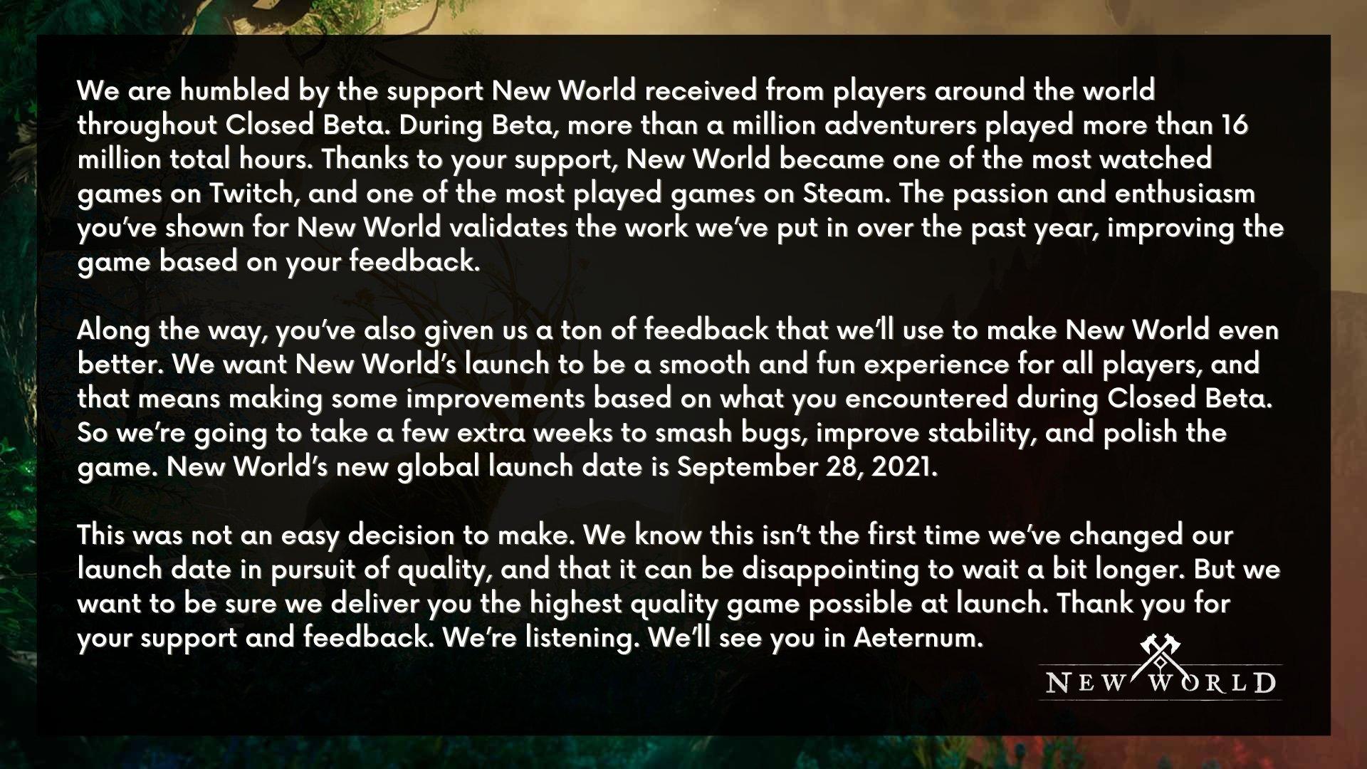 comunicado da amazon games studio