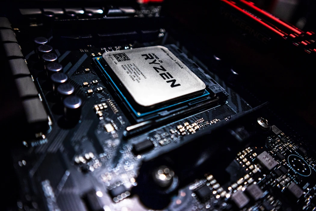 AMD Ryzen processador na motherboard