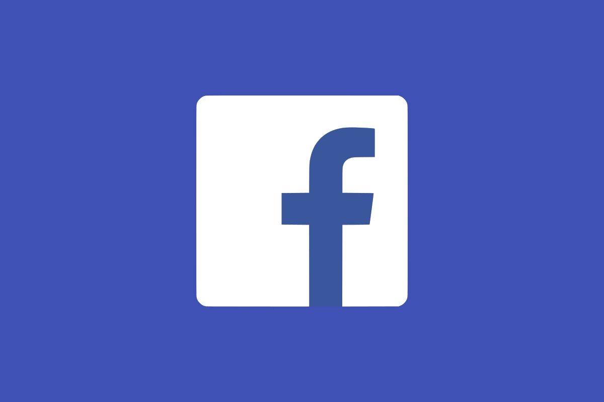 Facebook logo plano sobre fundo azul