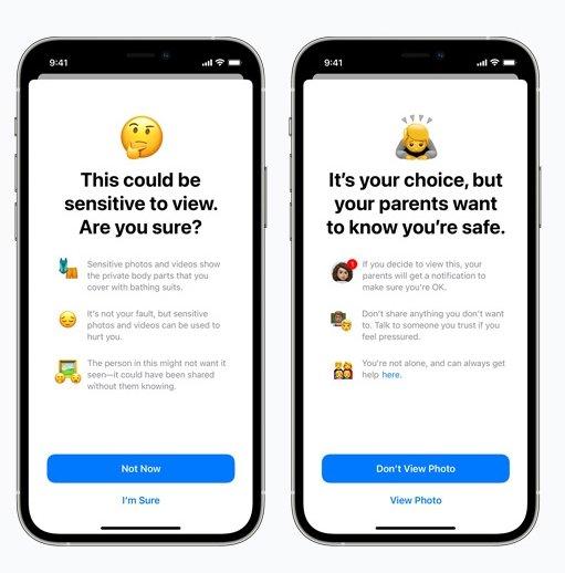 conteudo potencialmente abusivo no iOS