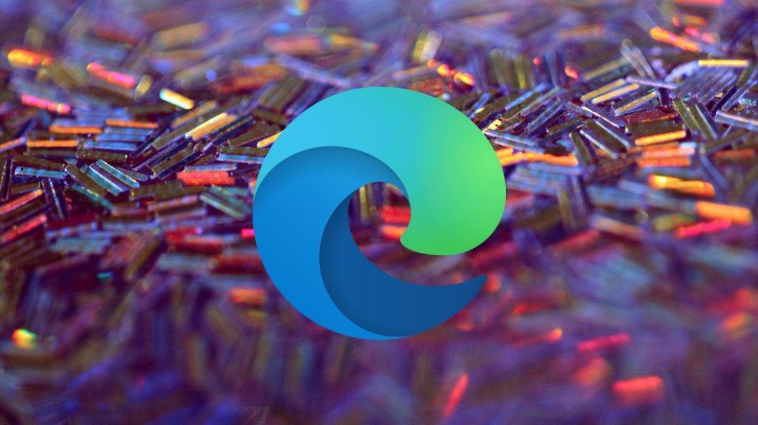Edge logo sobre fundo colorido