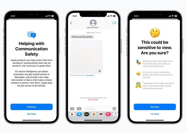 Apple notificação para conteúdos abusivos de menores