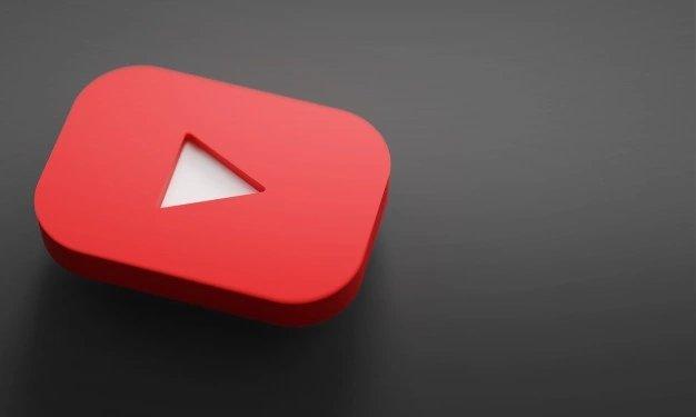 Youtube logo sobre fundo escuro