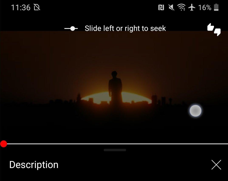 novo gesto do youtube para videos
