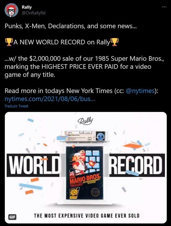 confirmação da venda recorde