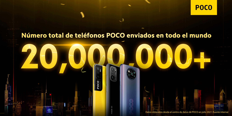 imagem da poco a celebrar 20 milhões de smartphones enviados