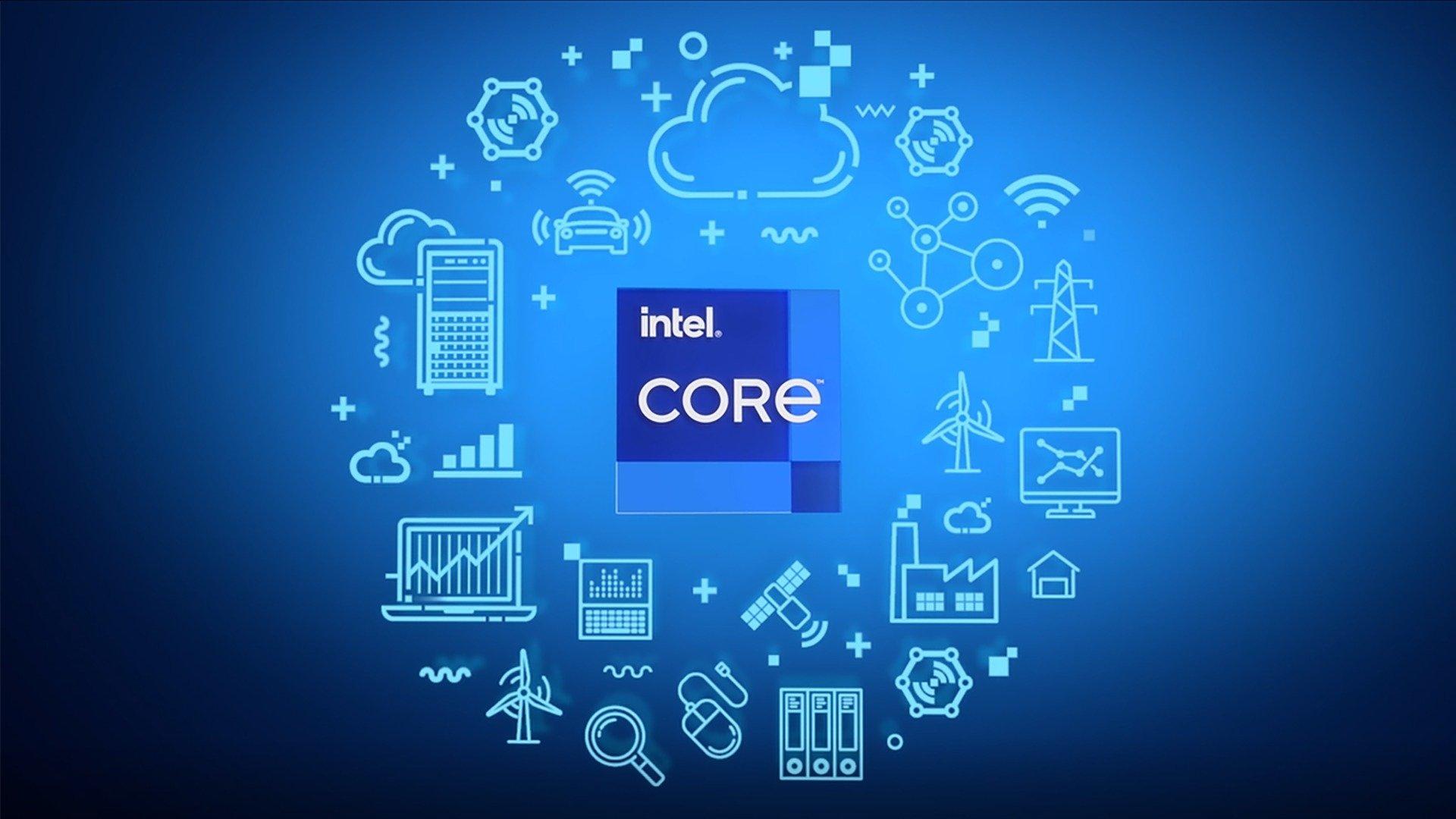 Intel logo dos processadores da empresa