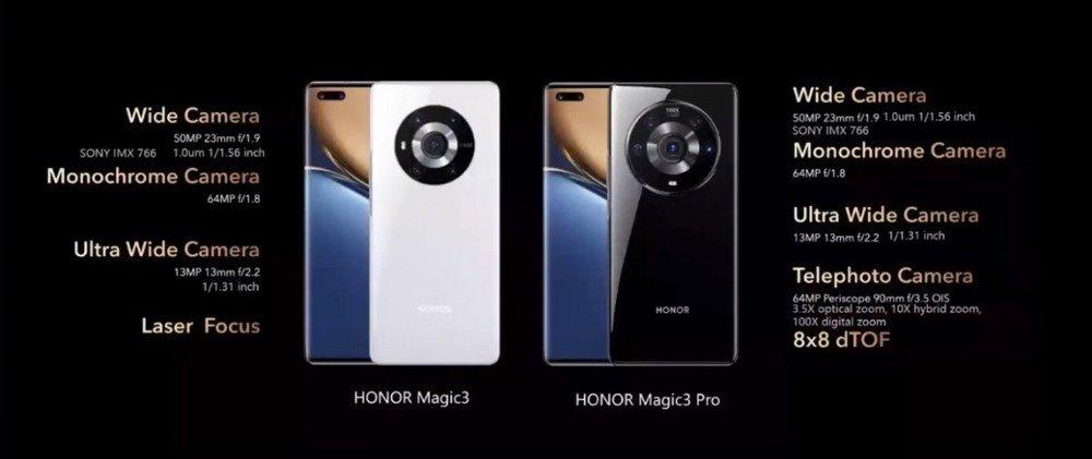 câmaras do honor magic 3
