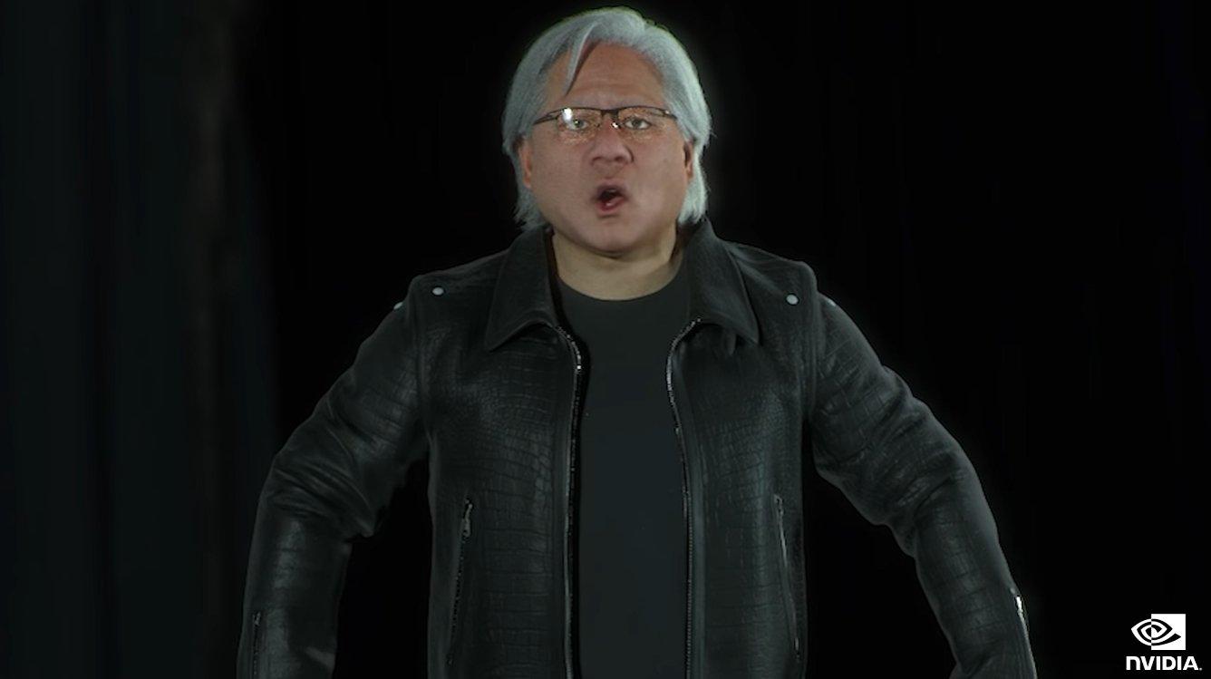 Nvidia com CEO falso durante evento