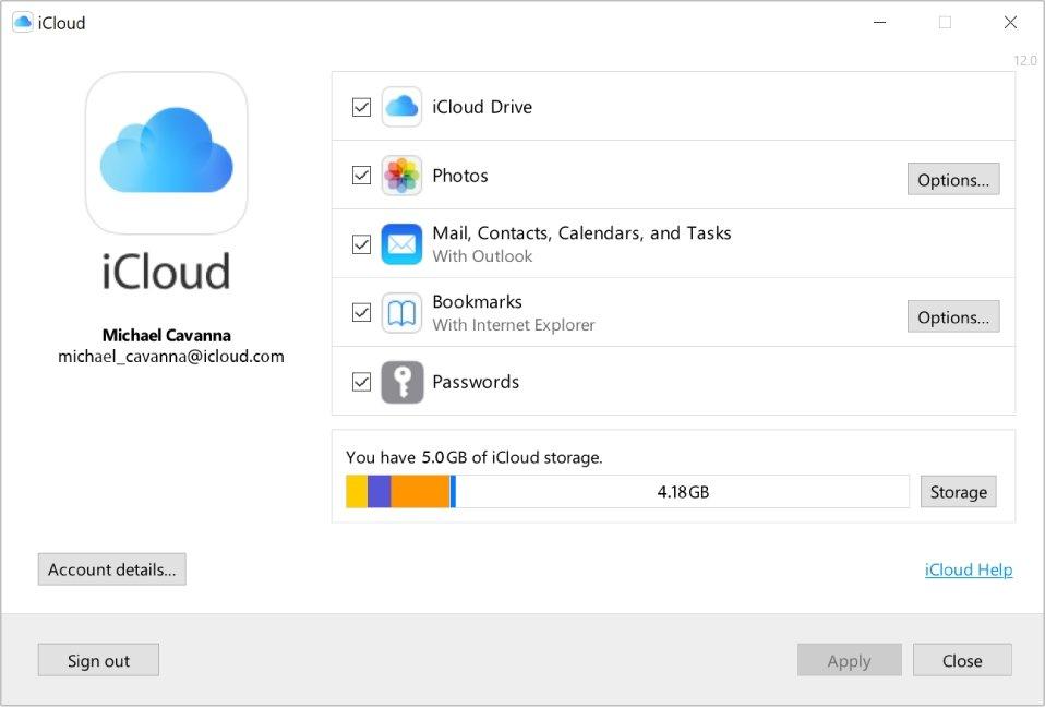 iCloud da Apple