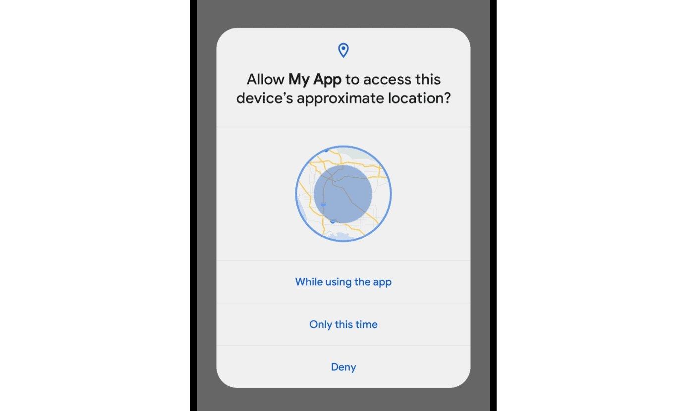 android 12 com localização aproximada