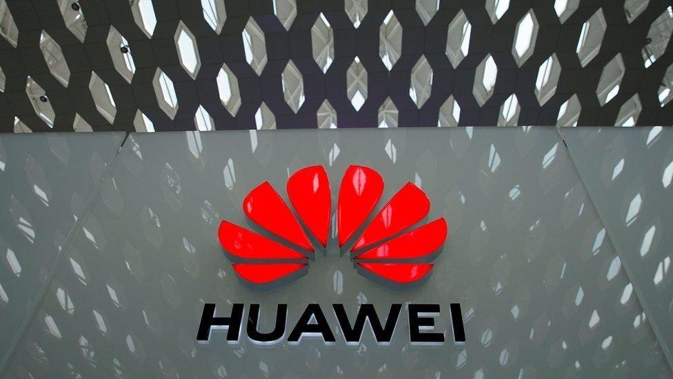 Huawei logo em sede