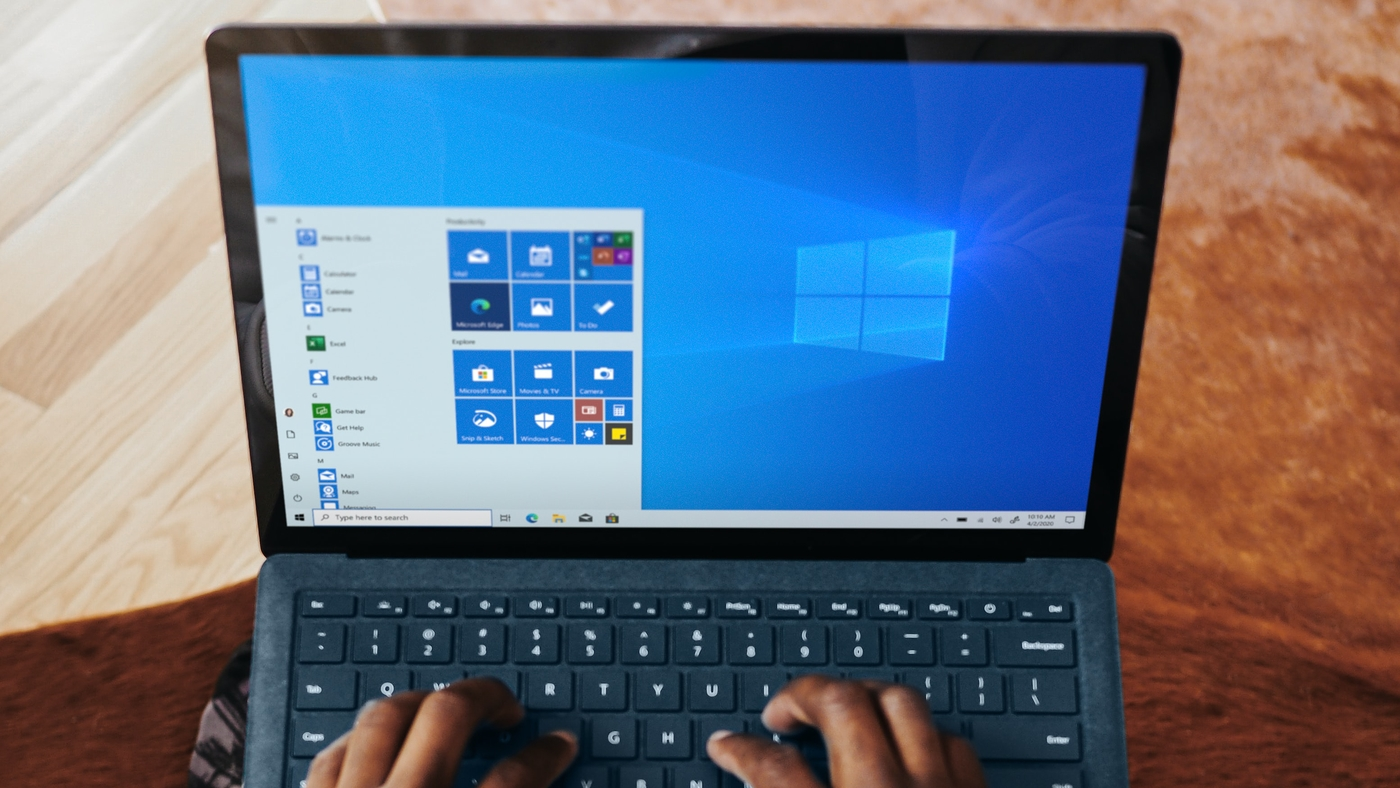 Windows 10 sistema em portátil