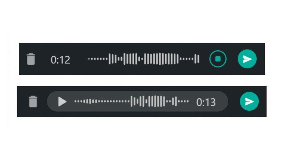 whatsapp novo sistema de gravação de voz