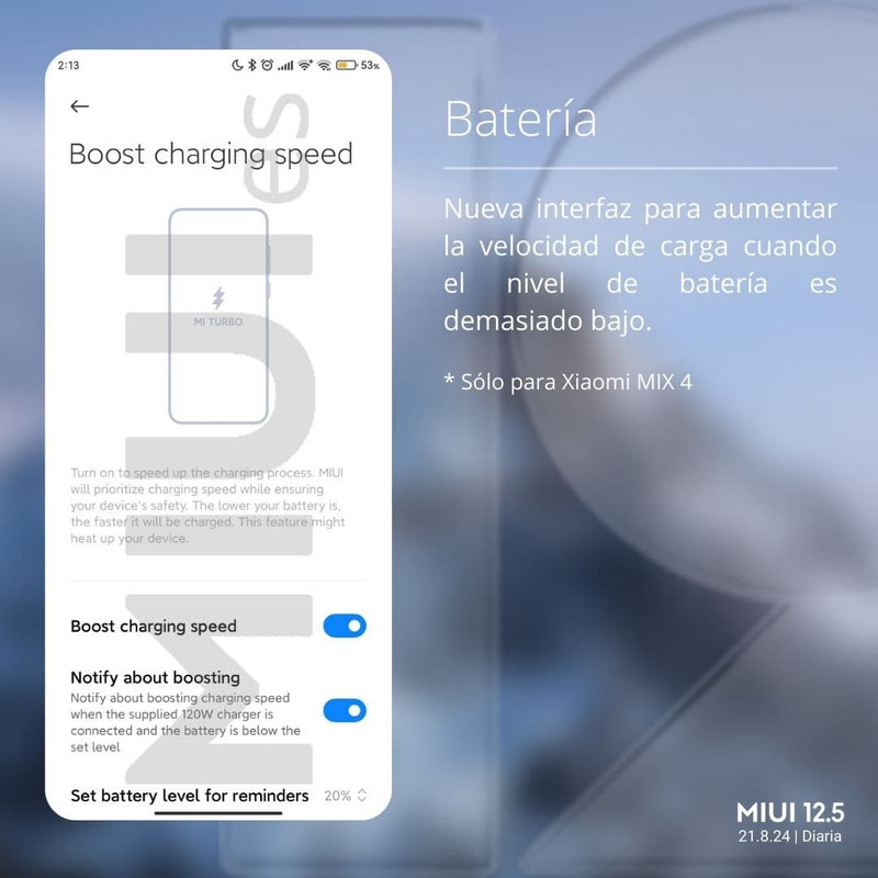 xiaomi boost speed charging