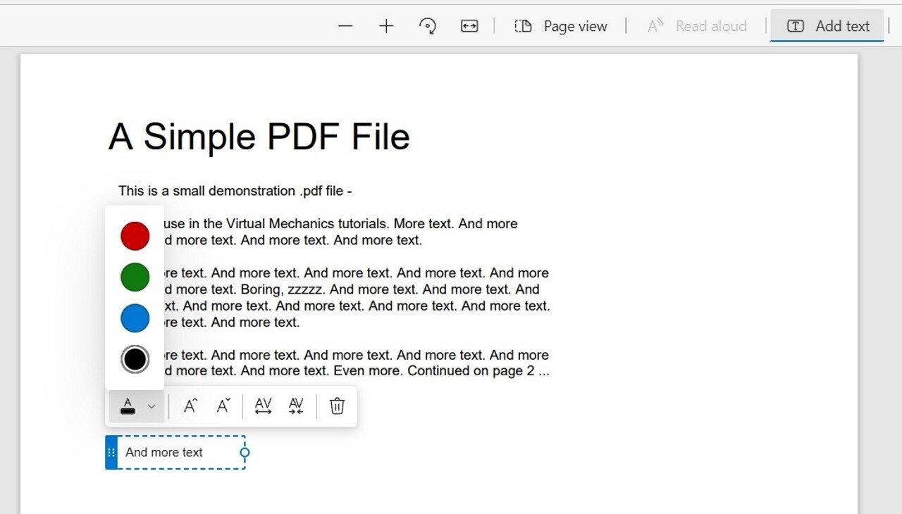 edição de PDF no Edge