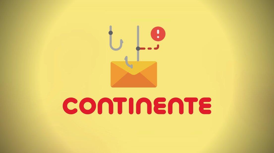 Continente esquema de phishing