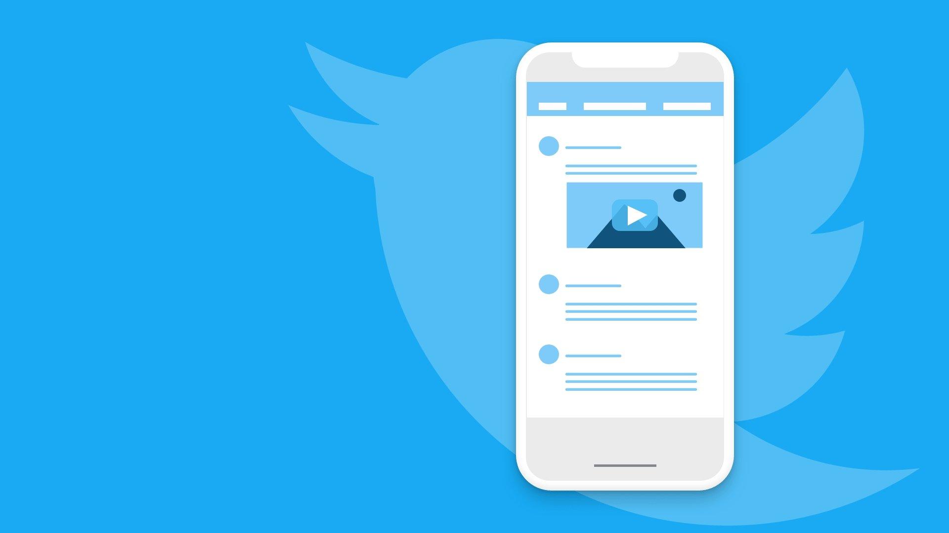 Twitter com timeline pela frente