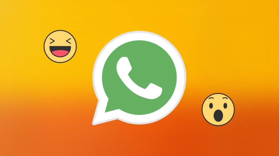 WhatsApp com reações nas mensagens