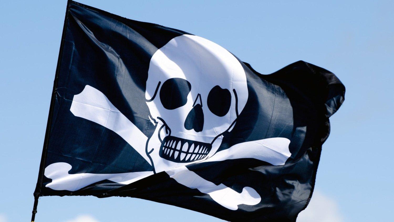 bandeira de pirataria