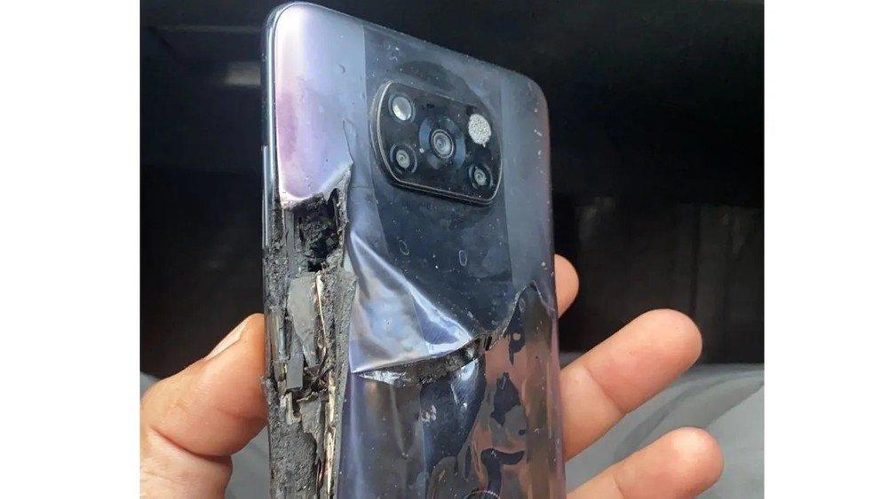 imagem do dispositivo queimado