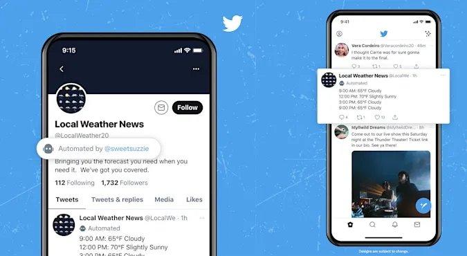 Twitter com contas de bots