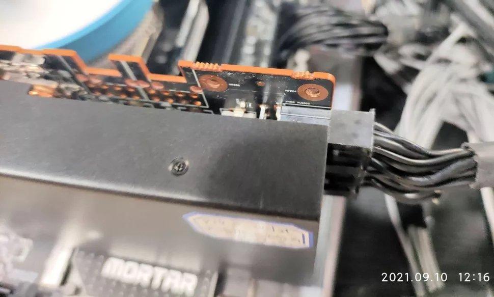 placa de mineração da AMD nova