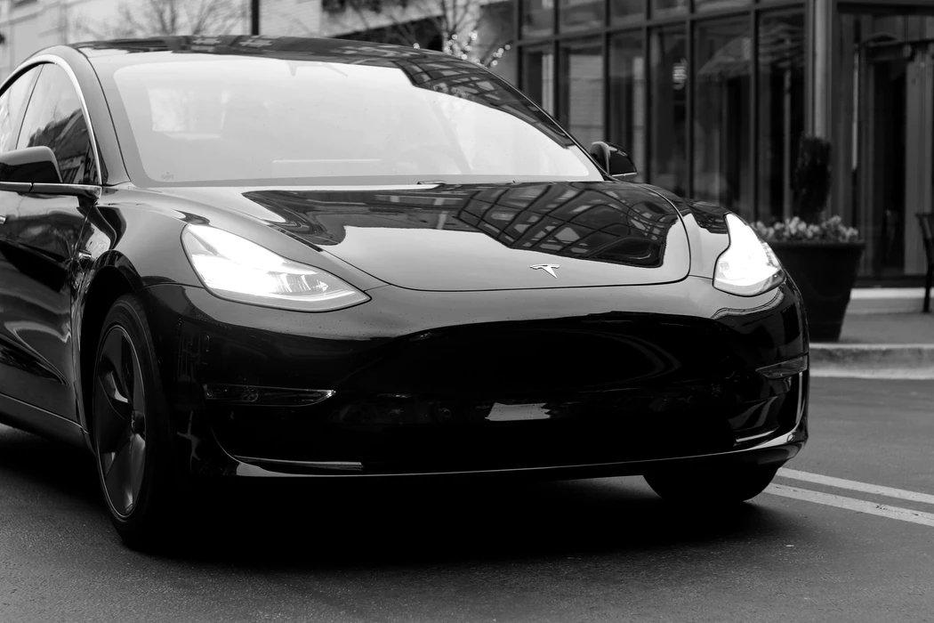 Tesla a preto e branco