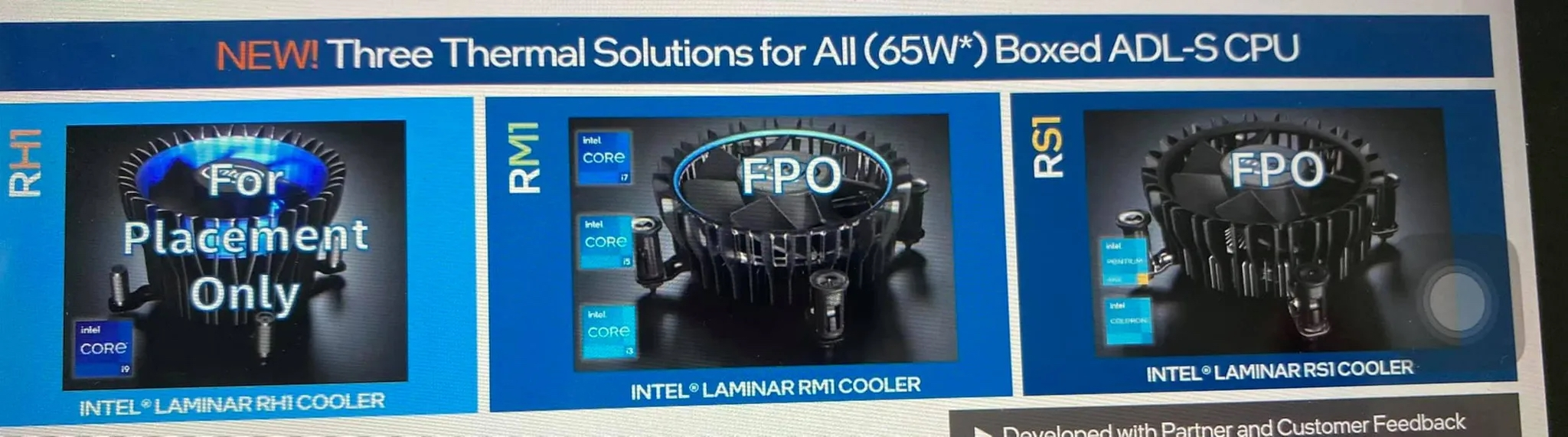 novos coolers da Intel