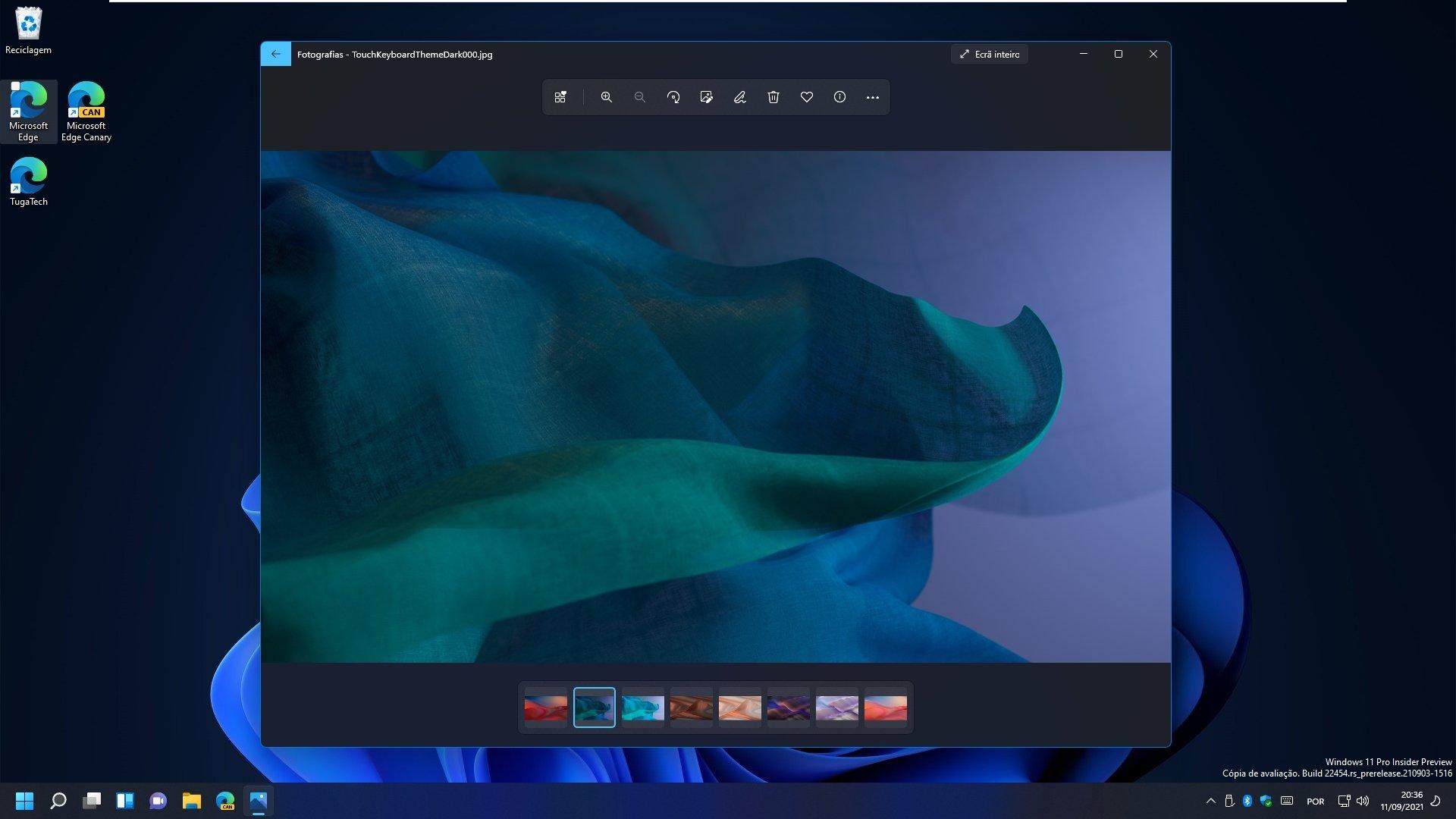 Windows 11 aplicação de fotografias