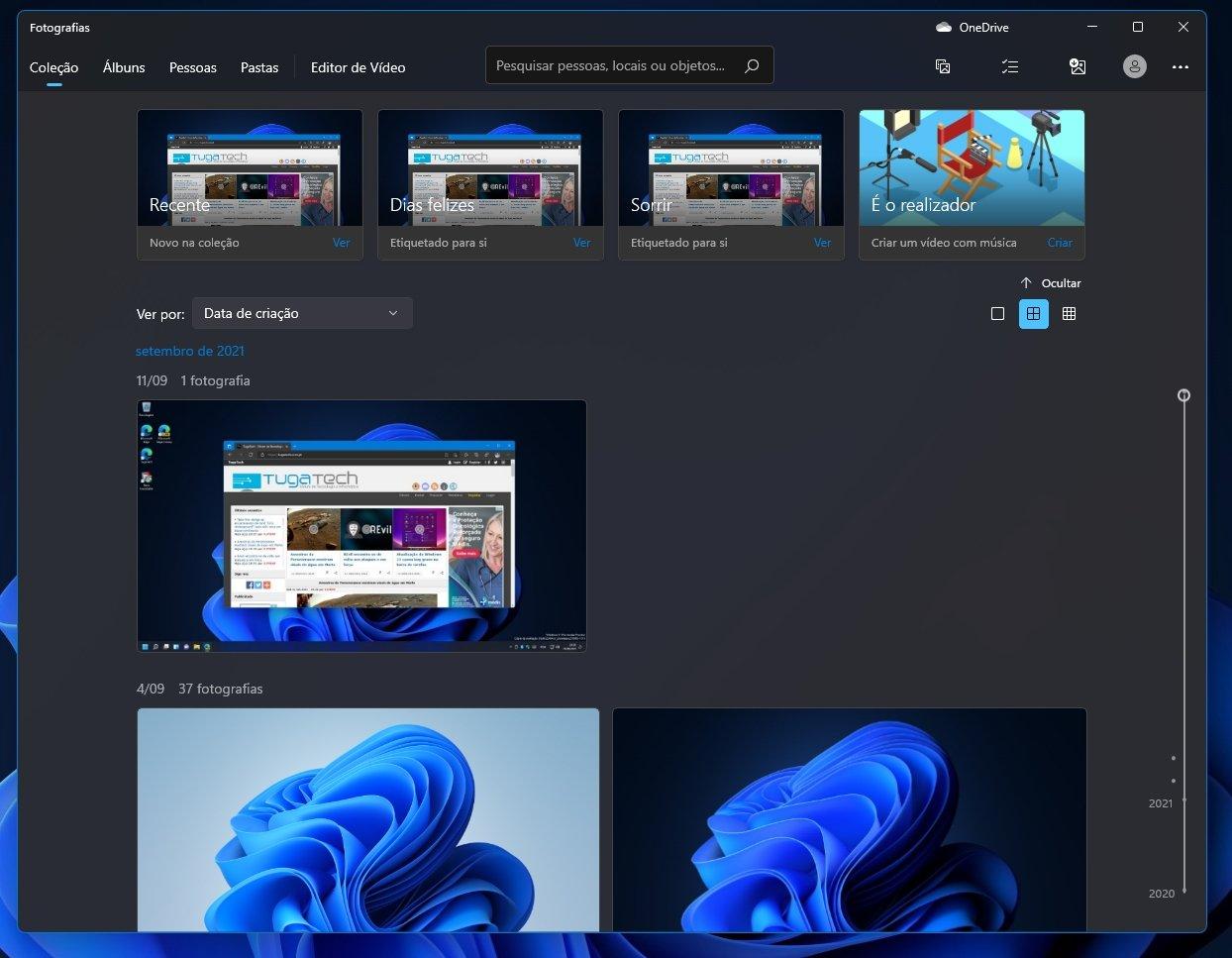 nova aplicação de fotos do WIndows 11