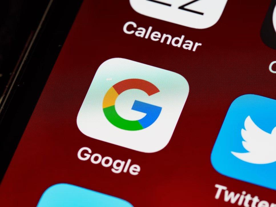 Google em app smartphone
