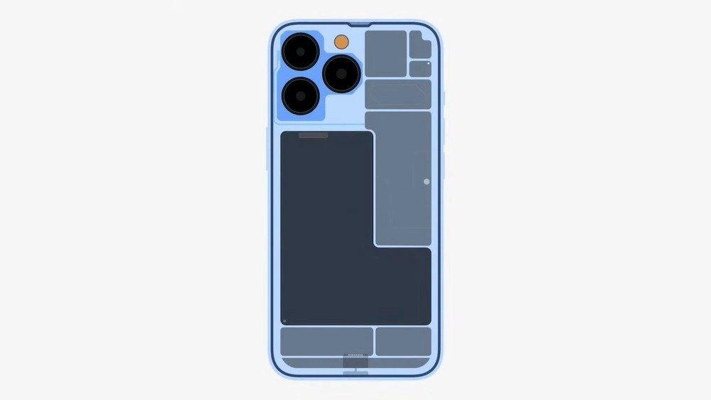 interior do iPhone 13 pro
