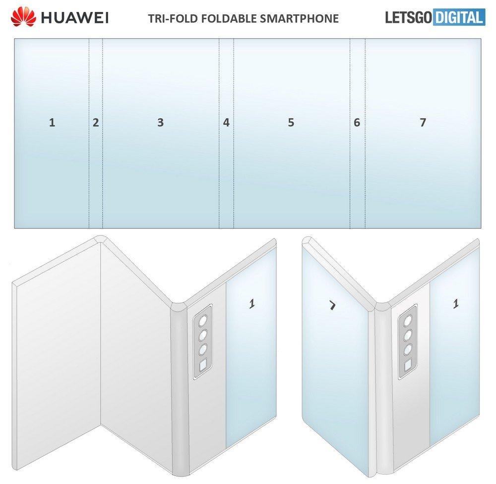 huawei patente smartphone dobrável