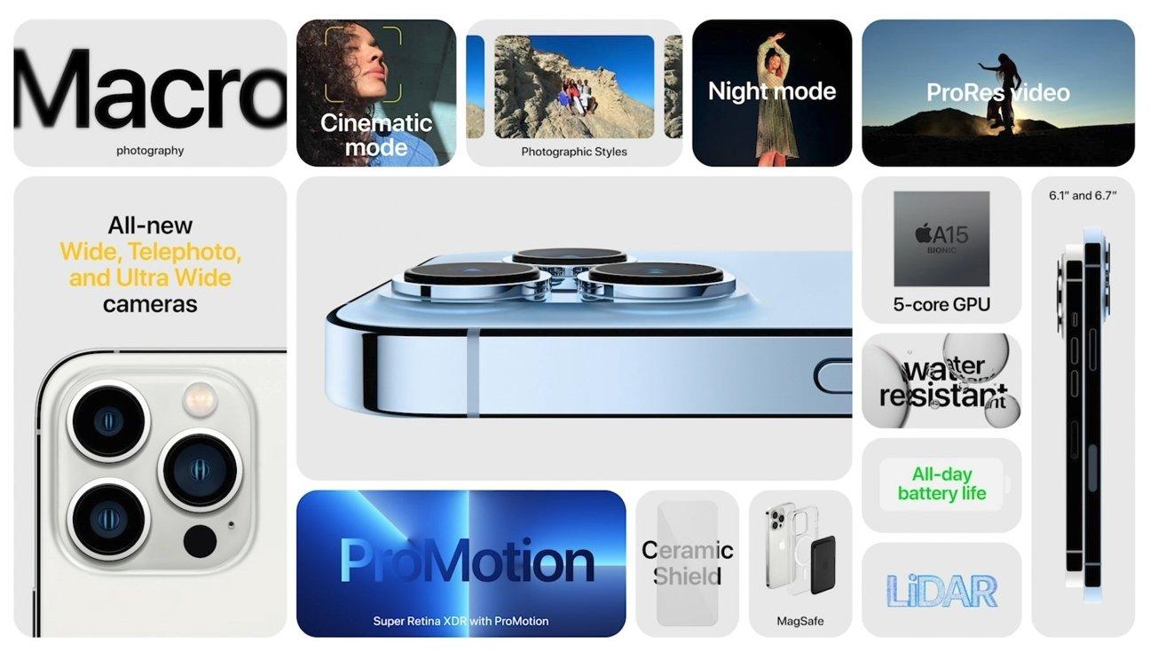 novos modos das câmaras do iPhone 13 pro