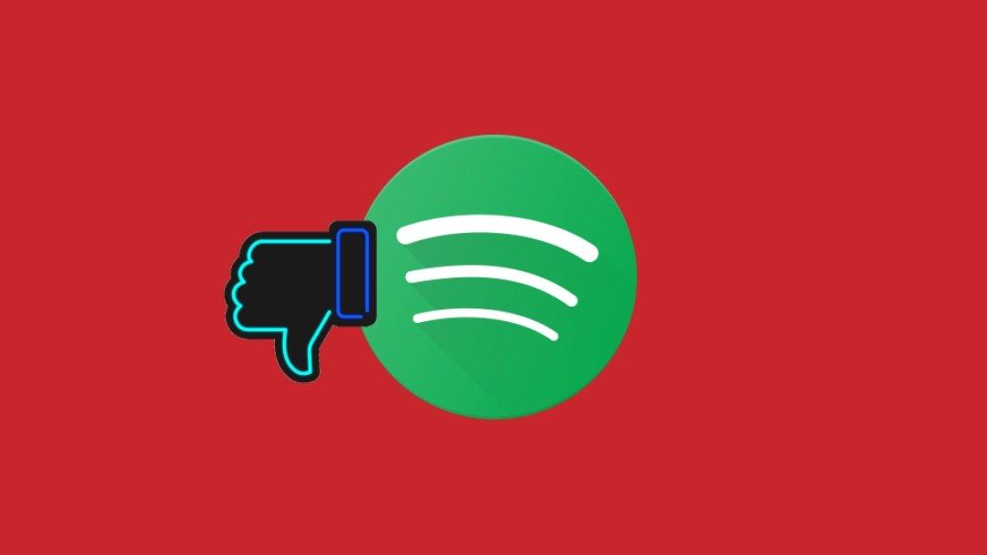 Spotify não gosto