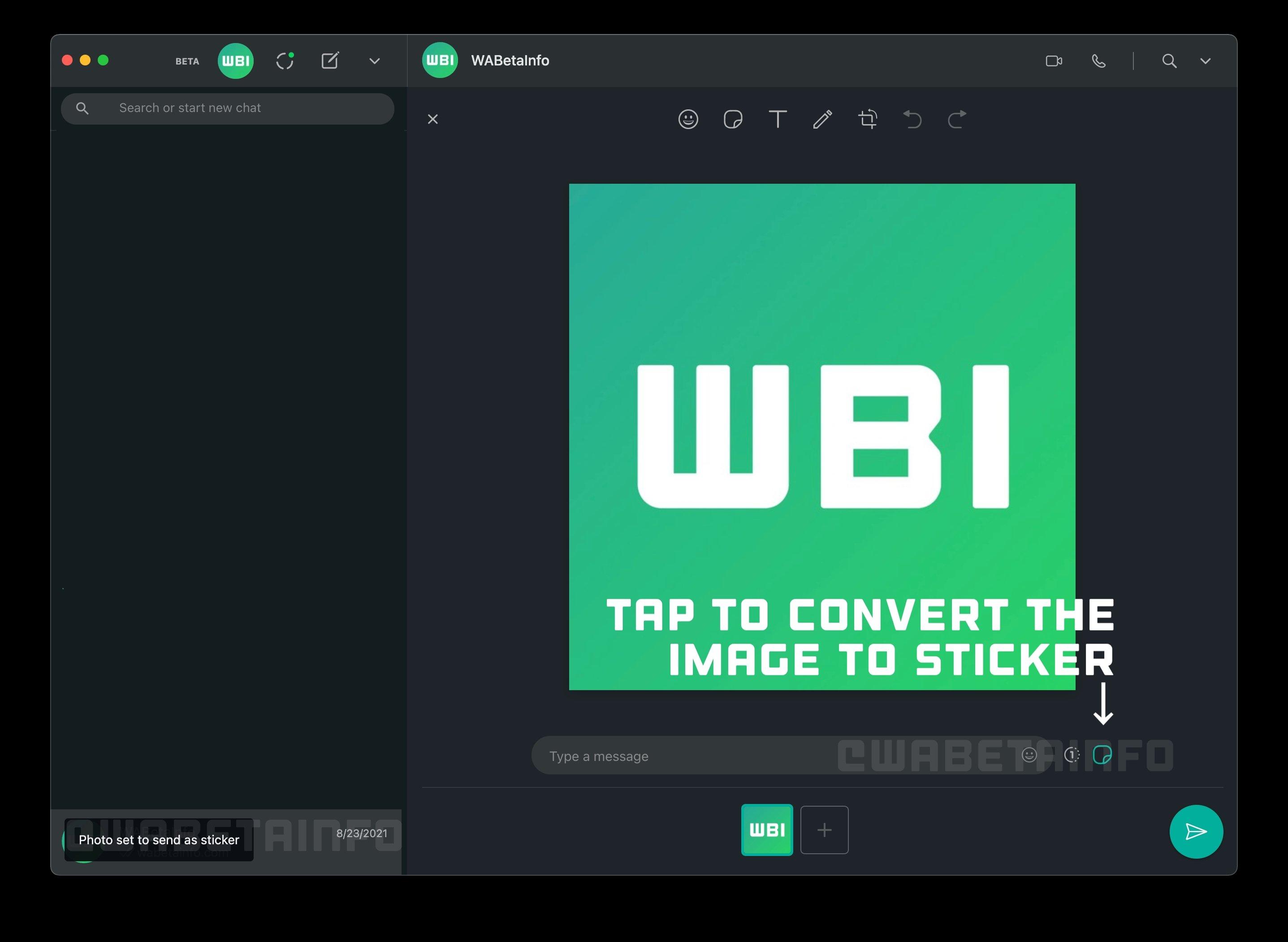 imagem como sticker no WhatsApp